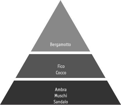 piramide olfattiva gesso profumato Figuier Dolce Palazzo Bello