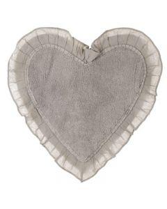 Tappeto a forma di cuore beige Blanc Mariclo