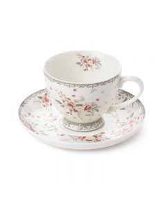 Set tazza con piattino floreale Sophie Nuvole di Stoffa