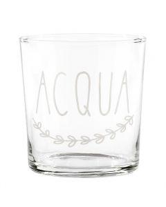 """Bicchiere In Vetro """"Acqua"""""""
