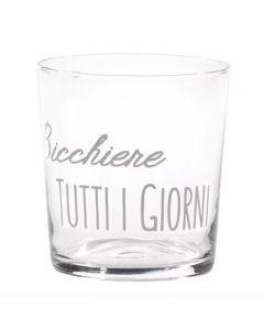 """Bicchiere Acqua In Vetro """"Tutti I Giorni"""""""