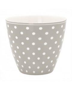 Latte Cup A Pois Grey