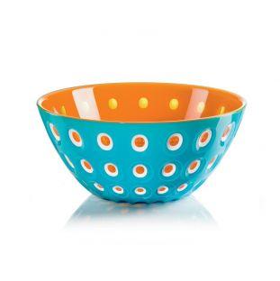 """Contenitore da cucina medio blu e arancio della serie """"Le Murrine"""" di Guzzini"""