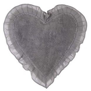 Tappeto bagno a forma di cuore grigio Blanc Mariclo