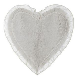 Tappeto bagno a forma di cuore panna Blanc Mariclo