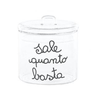 """Barattolo In Vetro """"Sale Quanto Basta"""" Nero"""