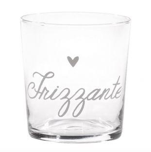"""Bicchiere Acqua In Vetro  """"Frizzante"""""""