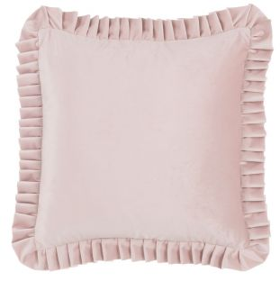 Cuscino Quadrato In Velluto Rosa