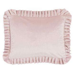 Cuscino Rettangolare In Velluto Rosa