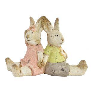 Deco 2 Conigli Seduti