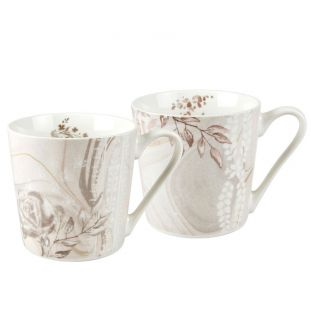 Set 2 Mug In Porcellana Palazzo Bello